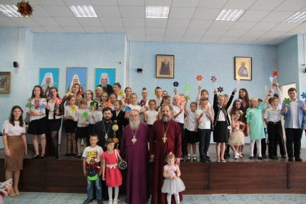 В актовом зале епархиального управления прошел концерт учащихся воскресной школы Свято-Троицкого собора г. Днепра