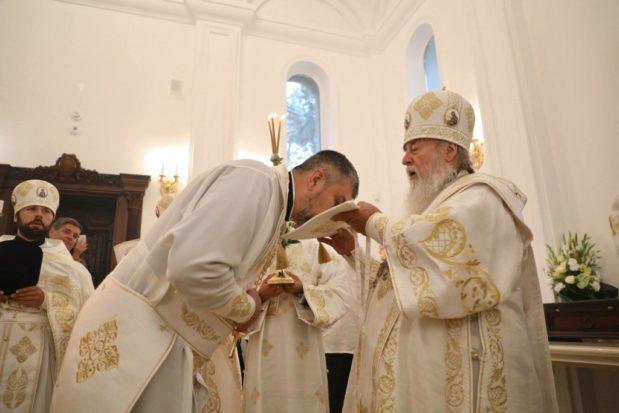 Митрополит Ириней освятил храм Собора Киевских святых